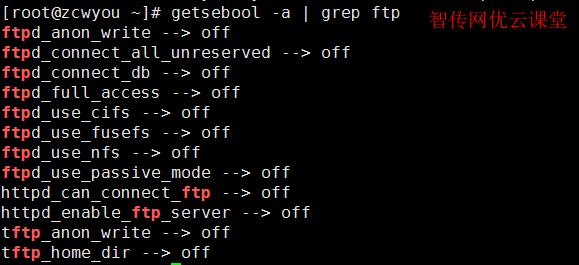 查看SElinux对FTP的限制