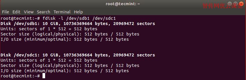 验证克隆Linux分区镜像是否成功