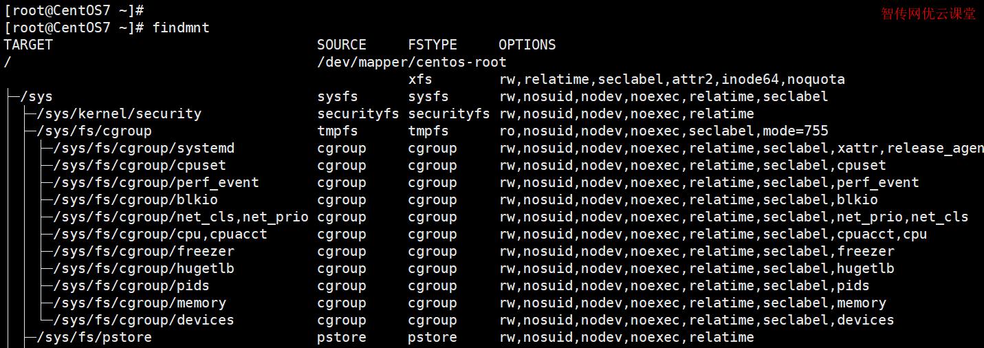 显示当前挂载的文件系统的列表