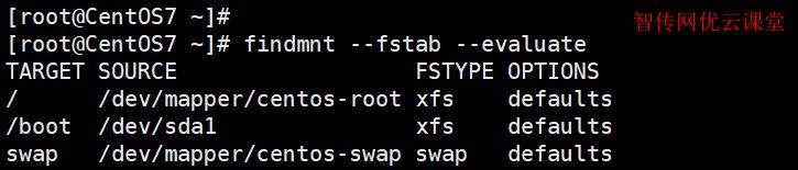 只显示ext4类型的文件系统