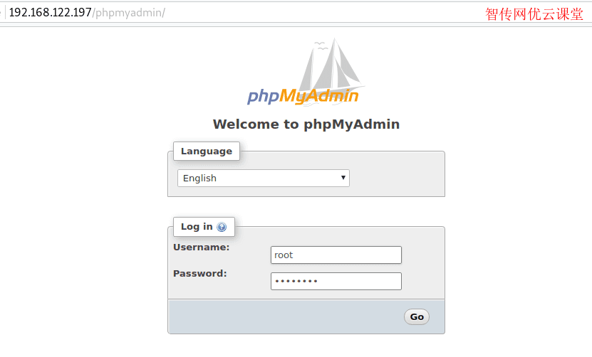 在CentOS8或者RHEL8上访问phpMyAdmin Web界面
