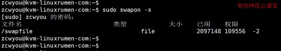 检查当前swap空间使用情况