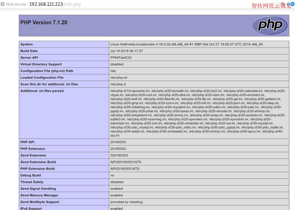 在CentOS8或RHEL8系统上打开PHP相关页面