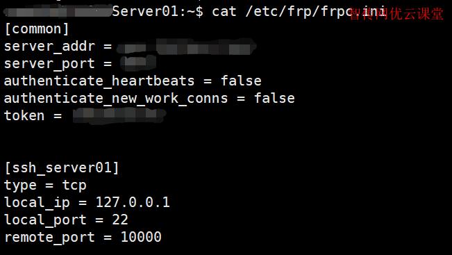 修改frp客户端配置文件