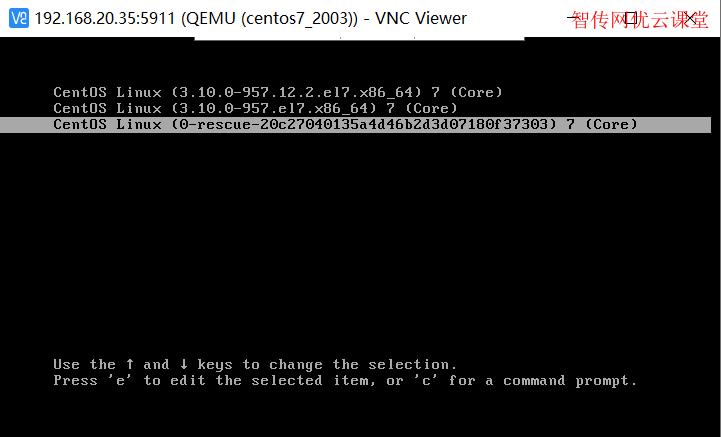 KVM虚拟机CentOS进入rescure模式