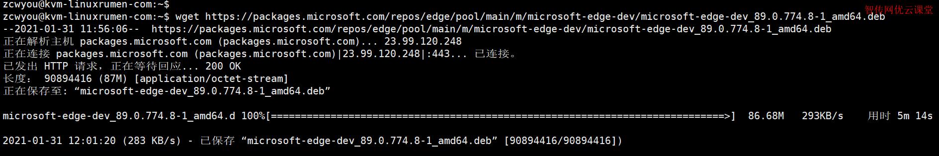 开始下载Edge浏览器