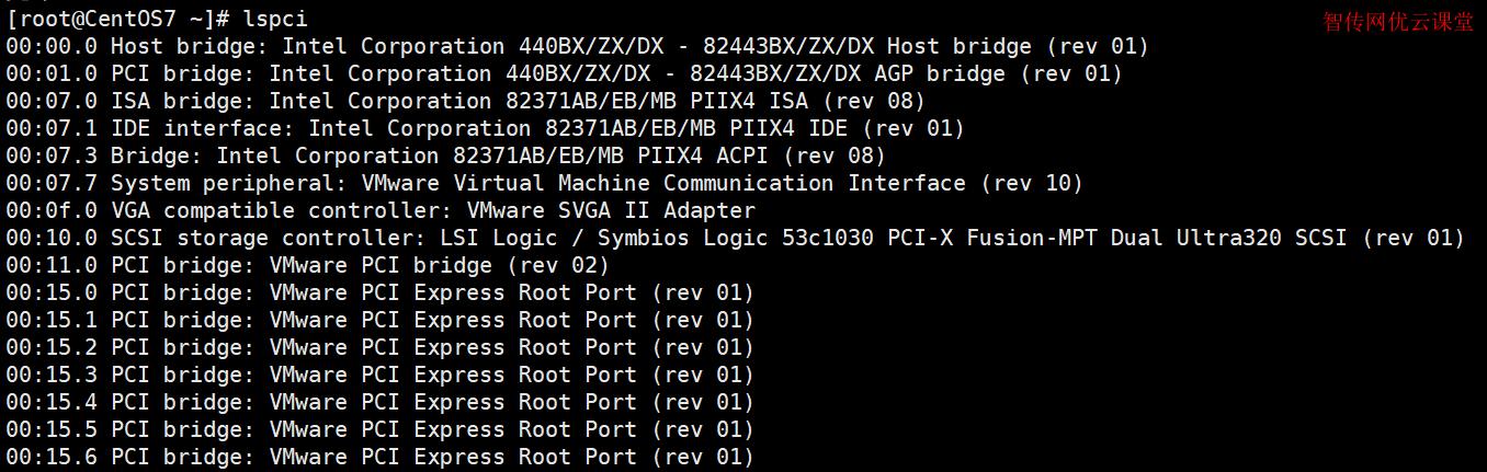 Linux使用lspci命令查看系统中PCI总线和连接了哪些设备