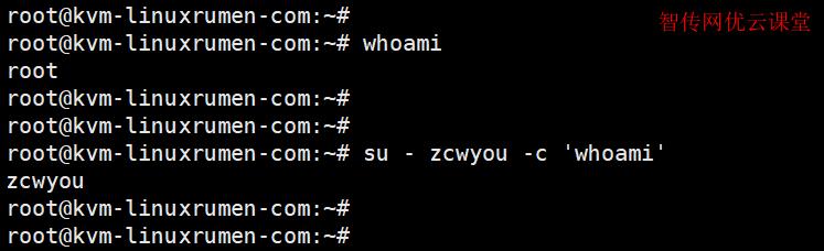 使用su命令以另一个用户的身份执行Linux命令