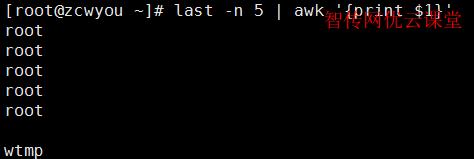 使用awk格式化输出结果