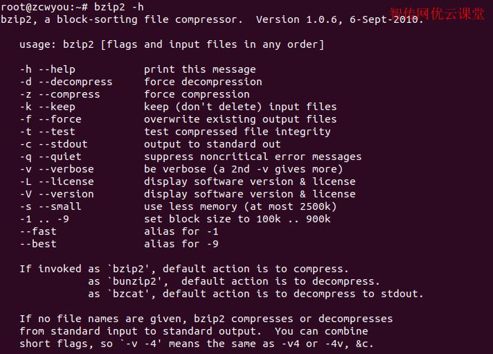 linux bzip2参数