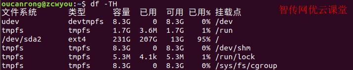 df命令查看Linux分区