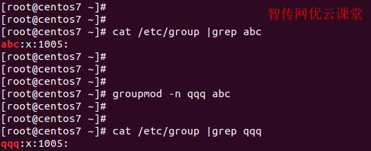 linux修改用户组名