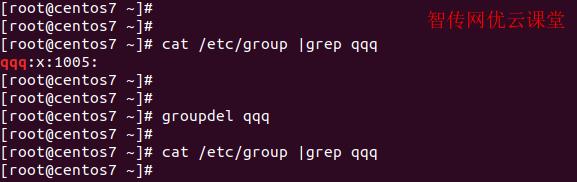 linux删除用户组