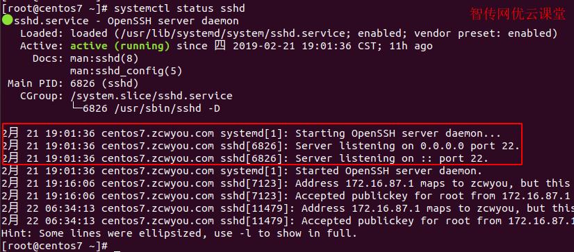 查看Linux某服务的日志