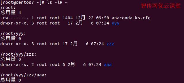Linux使用ls命令递归查看本目录下所有的文件和子目录