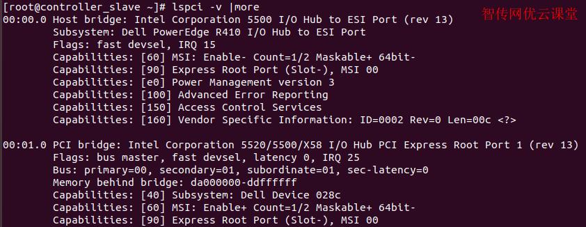 linux上使用lspci查询特定硬件信息