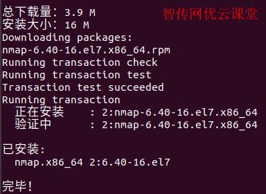 成功安装nmap