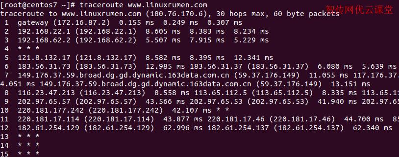 Linux路由跟踪工具
