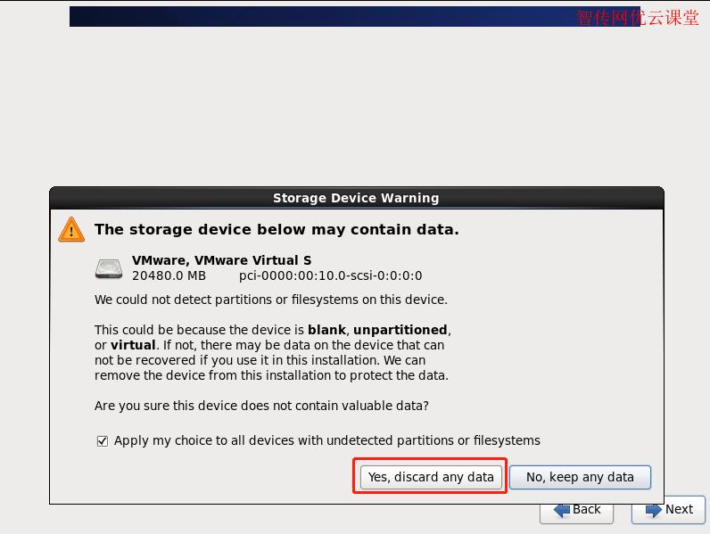 选择丢弃所有数据(即重新格式化硬盘)