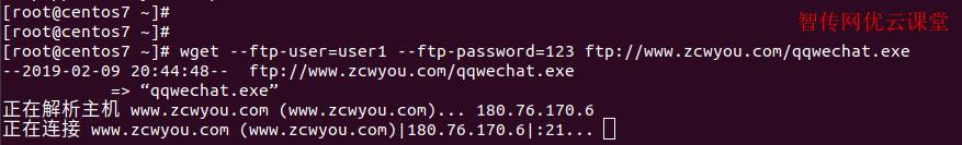 linux使用命令行wget下载连接ftp服务器