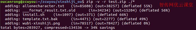 linux指定压缩比例压缩zip文件