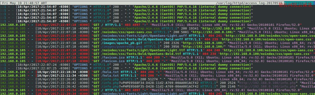 CentOS 7中使用lnav监控Apache日志