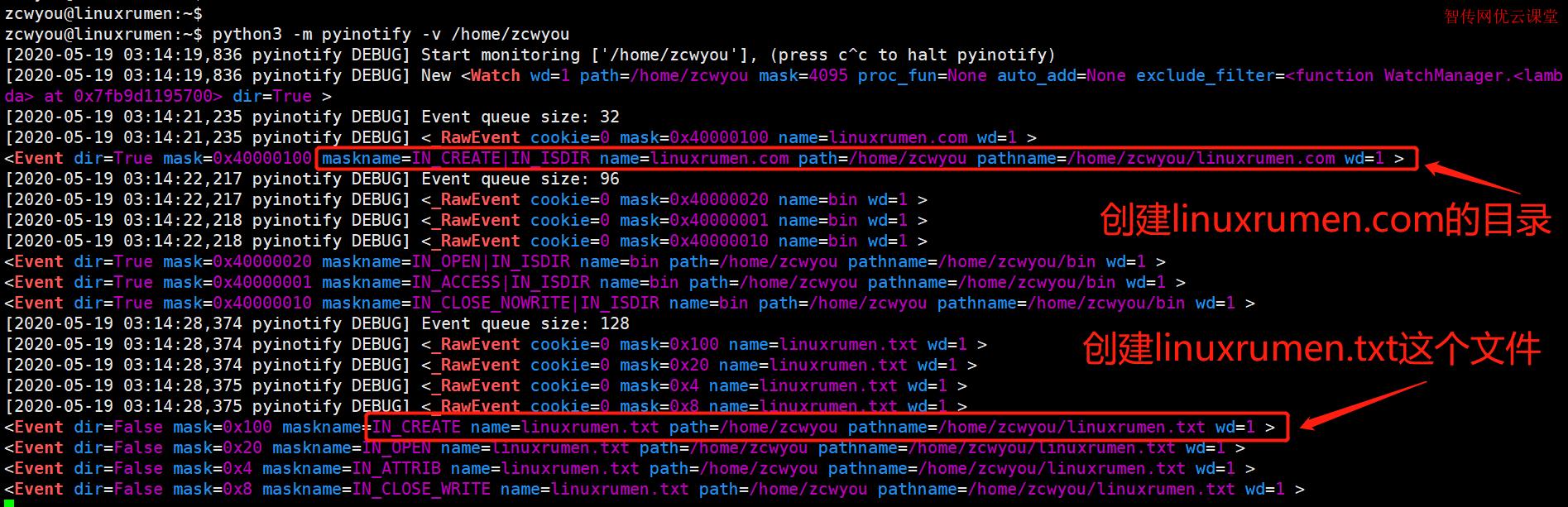 如何在Linux中使用pyinotify