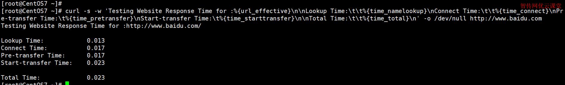 使用Linux命令行测试网站连接速度
