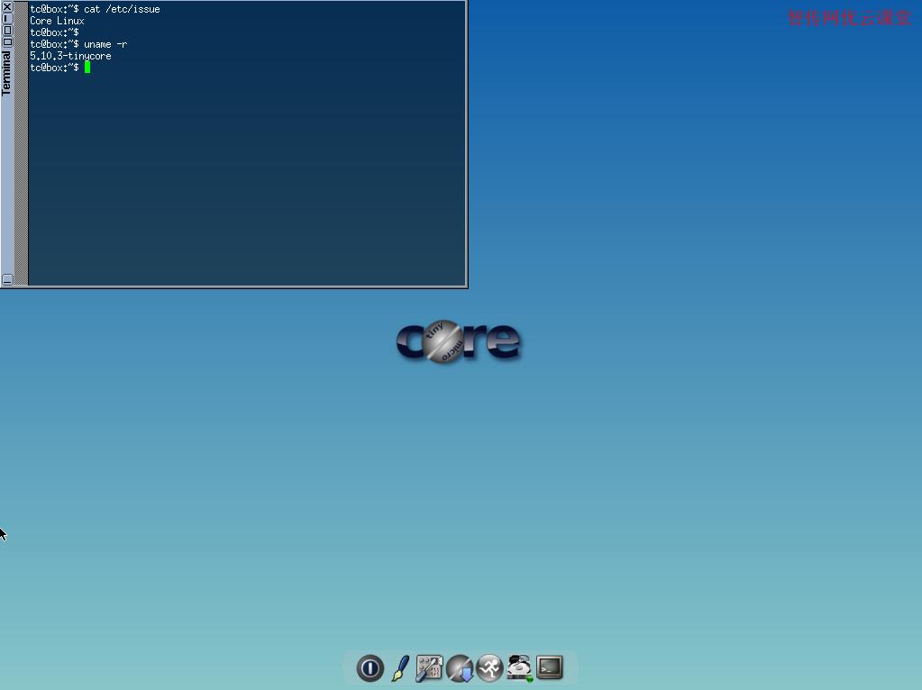 查看Tiny Core Linux系统信息