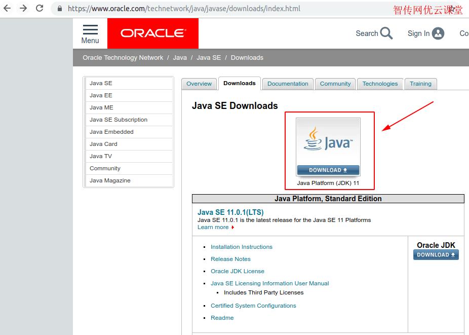 点击JAVA图标下载JDK
